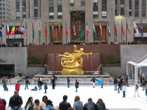 Statue of Prometheus at Rockefeller Center