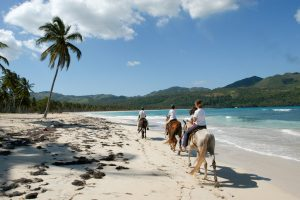 Horse riding in playa Rincon