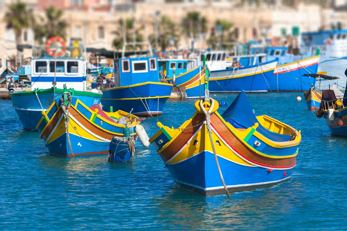Luzzu, the typical Maltese boats
